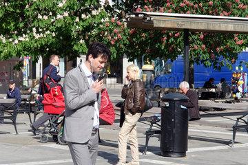 Mobilfunk-User in Stockholm