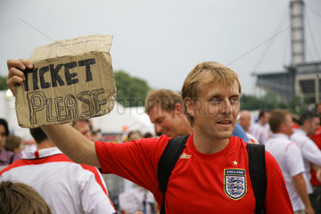 WM 2006  Englischer Fan ohne Ticket