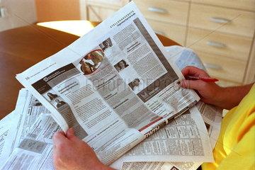Stellenanzeigen in der Presse