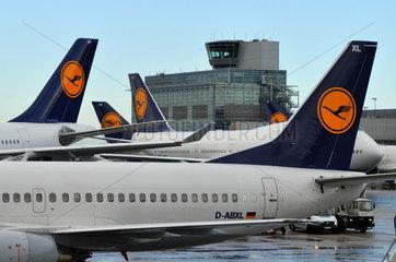 Lufthansa Leitwerke in Frankfurt