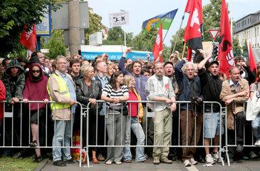 Kundgebung gegen den Aufmarsch von Rechtsextremisten in Bonn-Duisdorf am 12.07.2008