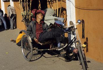 Fahrrad Rikscha  Nepal  Kathmandu  Durbar Square