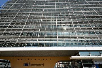 Bruessel  Region Bruessel-Hauptstadt  Belgien - Berlaymont-Gebaeude im Europaviertel.