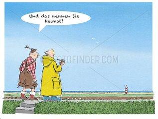 Bayer wundert sich ueber das flache Friesland
