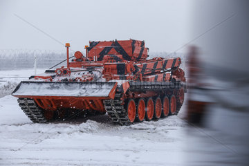 RUSSIA-MOSCOW-ARMOURED RECOVERY VEHICLE