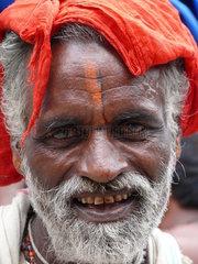 Portrait eines alten Inders