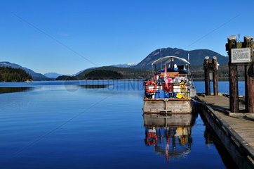 Sunshine Coast Kanada: Fischerboot in der Purpoise Bay in Sechelt;
