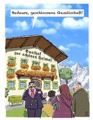 Fluechtlinge werden an Gasthof abgewiesen