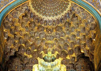 Eingangsiwan der Freitagsmoschee in der iranischen Stadt Isfahan
