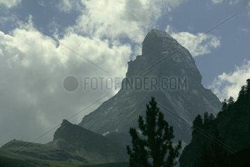 Das Matterhorn im Wallis  Schweiz  Europa