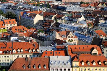 Blick auf die Innenstadt von Muenchen