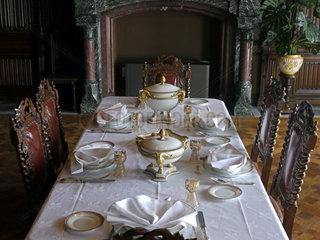 Speisesaal im Schloss Drachenburg bei Bonn