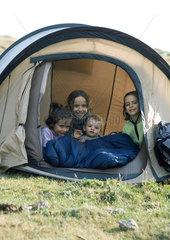 Kids in tent