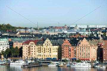 Sweden  Stockholm  Gamla Stan  waterfront view