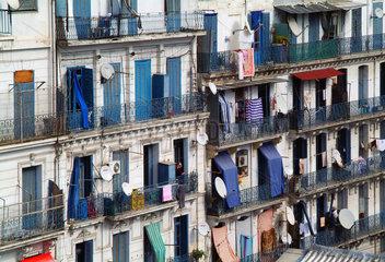 Algerien  Algier  Wohnbauten aus der Kolonialzeit