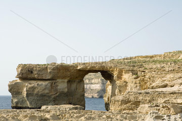 The Azure window  a natural bridge on the island of Gozo  Malta