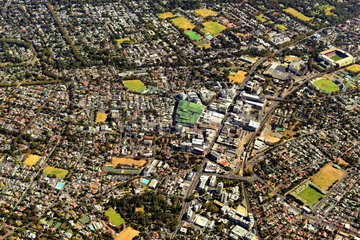 Aerial view of the eastern part of Cape Town
