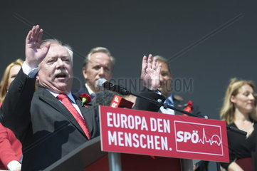 May 1 celebration in 2014 of the Socialist Party of Austria with Mayor Michael Haeupl