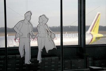 Werbung auf dem Flughafen Koeln-Bonn