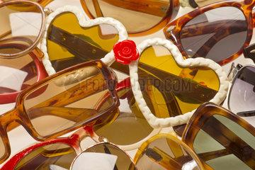 alte Sonnenbrillen  1950er bis 1990er Jahre