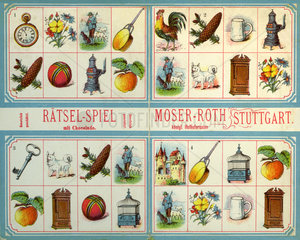 Raetsel Spiel  Schokohersteller Moser Roth  Stuttgart  1898