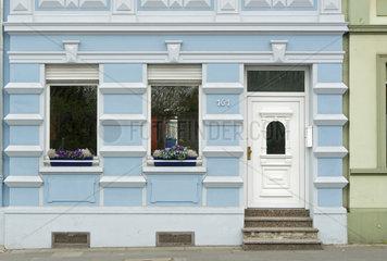 Restaurierte Hausfassade
