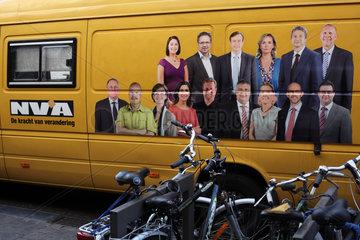 Wahlkampf der Nieuw-Vlaamse Alliantie (NVA) in Antwerpen  Belgien
