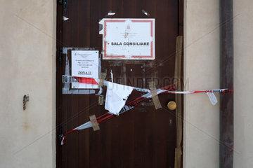 Lampedusa  Gesperrter Rathausbereich wegen Milzbrandverdacht