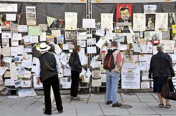 Protestwand  Klagemauer gegen Stuttgart 21