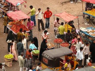 Markt im indischen Hyderabad