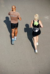 Jogging-Paar