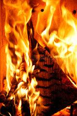 Ein Kaminfeuer