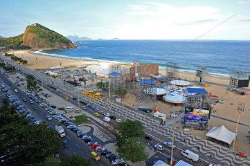 Aufbau der Buehne zum Weltjugendtag 2013 in Rio de Janeiro