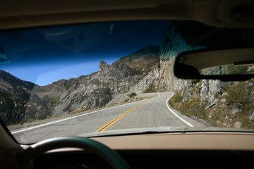 Strasse im Yosemite National Park