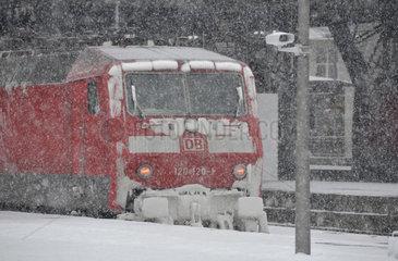 Sturmtief Daisy am Hauptbahnhof in Koeln