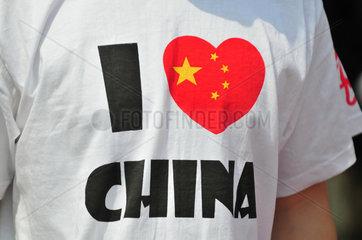 China: T-Shirt I love China