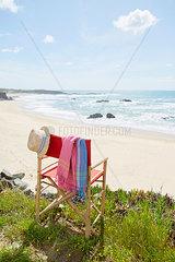 Bambus Stuhl am Meer