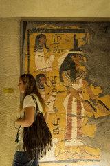 EGYPT-LUXOR-TOURISM-TUTANKHAMUN-FACSIMILE-TOMB