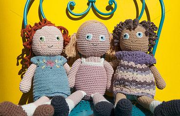 3 Puppen-Maedchen