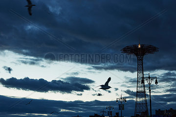 Coney Island im Winter