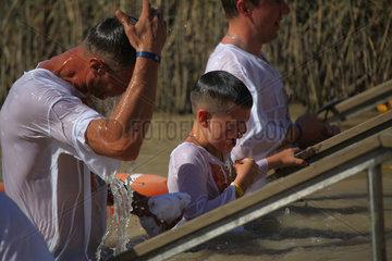 MIDEAST-JERICHO-BAPTISM