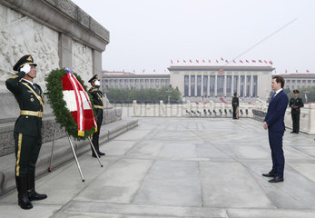 CHINA-BEIJING-AUSTRIAN CHANCELLOR-MONUMENT-TRIBUTE (CN)