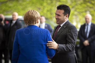 Angela Merkel empfaengt Zoran Zaev