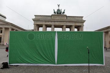 Start der Tour zur Europawahl der Gruenen mit dem Titel Kommt  wir bauen das neue Europa!   Pariser Platz