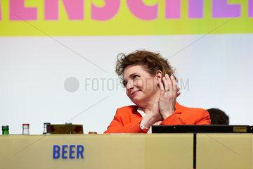 Berlin  Deutschland - Nicola Beer  stellvertretende Bundesvorsitzende der FDP auf dem Bundesparteitag.