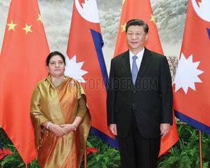 CHINA-BEIJING-XI JINPING-NEPALESE PRESIDENT-TALKS (CN)