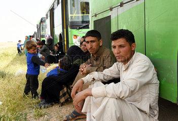 SYRIA-HOMS-RUKBAN CAMP-DISPLACED