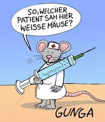 so  welcher Patient sah hier weisse Maeuse? so  welcher Patient sah hier wei
