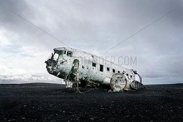 Iceland  Solheimasandur  plane wreck in the desert