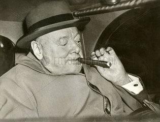 Sir Winston Churchill  britischer Premierminister  1953